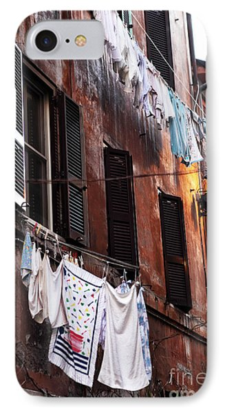 Life In Trastevere IPhone Case by John Rizzuto