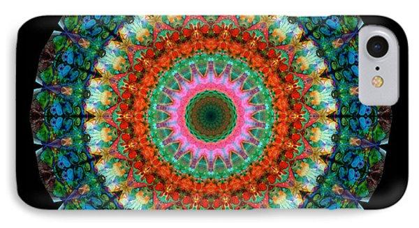 Life Joy - Mandala Art By Sharon Cummings IPhone Case by Sharon Cummings