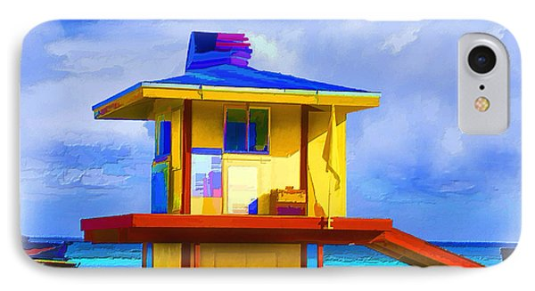 Lifeguard Station Phone Case by Gerry Robins