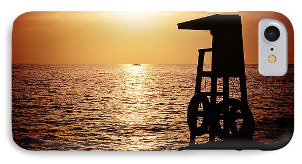 Lifeguard Tower Silhoette IPhone Case by Jane Rix