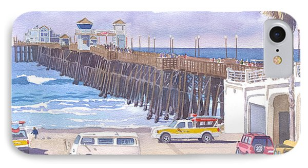 Lifeguard Trucks At Oceanside Pier IPhone 7 Case by Mary Helmreich
