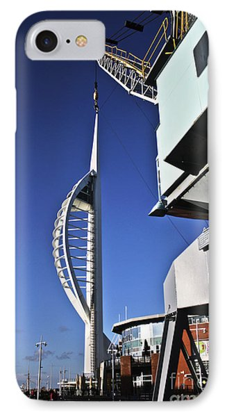 Lifting Portsmouth's Spinnaker Tower Phone Case by Terri Waters