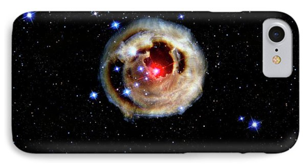 Light Echoes From Exploding Star IPhone Case by Nasa/esa/stsci/h.bond/detlev Van Ravenswaay