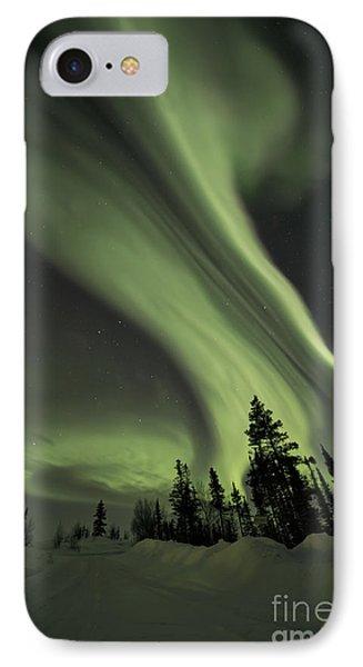 Light Swirls Over The Midnight Dome IPhone Case by Priska Wettstein