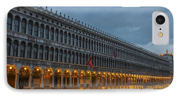 Lighted Archways In A Row IPhone Case by Mats Silvan