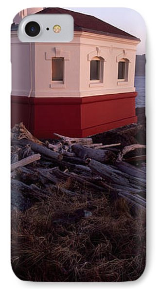 Lighthouse At The Coast, Coquille River IPhone Case by Panoramic Images