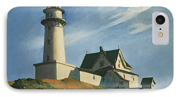 Lighthouse At Two Lights IPhone Case by Edward Hopper