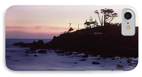 Lighthouse On A Hill, Battery Point IPhone Case by Panoramic Images