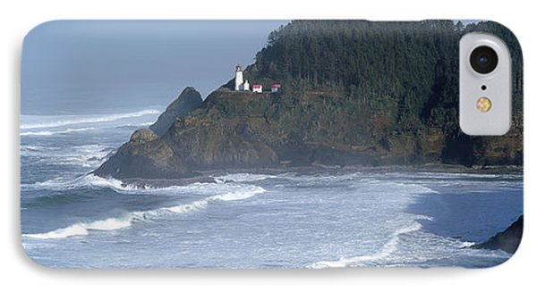 Lighthouse On A Hill, Heceta Head IPhone Case by Panoramic Images