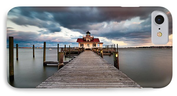 Lighthouse - Outer Banks Nc Manteo Lighthouse Roanoke Marshes IPhone Case by Dave Allen