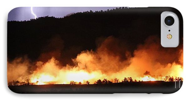 IPhone Case featuring the photograph Lightning During Wildfire by Bill Gabbert