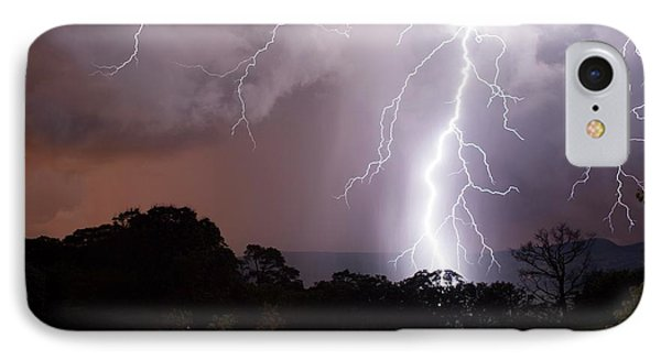 Lightning Strike IPhone Case by Olivier Vandeginste