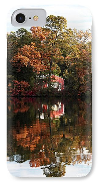 Lil Red On The Lake IPhone Case by John Rizzuto