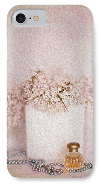 Lilacs Pearls And Perfume Phone Case by Rebecca Cozart