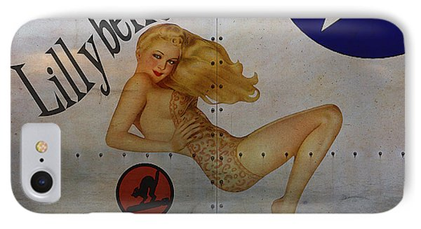 Lillybelle Nose Art IPhone Case by Cinema Photography