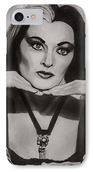 Lily Munster IPhone Case by Brian Broadway
