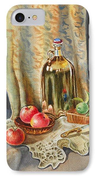 Lime And Apples Still Life IPhone Case by Irina Sztukowski