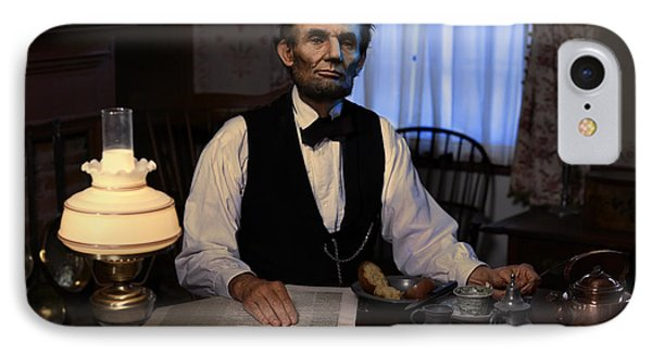 Lincoln At Breakfast 2 Phone Case by Ray Downing