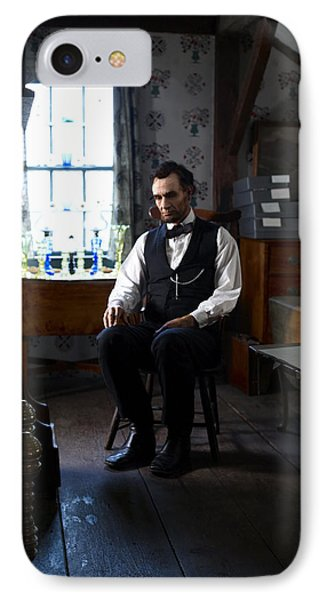 Lincoln In The Attic 2 IPhone Case by Ray Downing