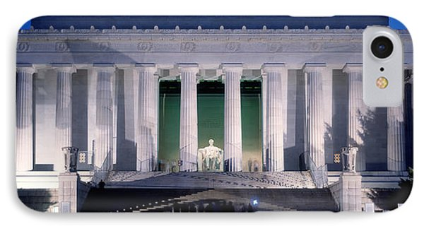 Lincoln Memorial At Dusk, Washington IPhone 7 Case by Panoramic Images