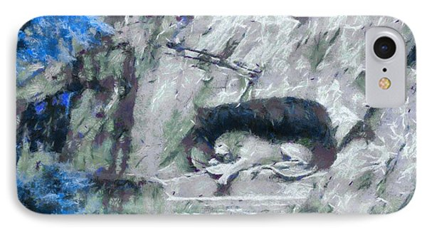 Lion Of Lucerne IPhone Case by Dan Sproul
