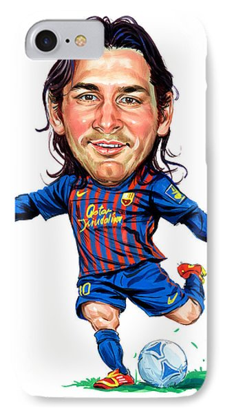 Lionel Messi Phone Case by Art