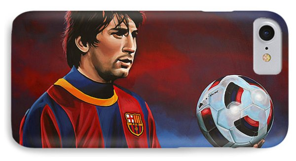 Lionel Messi  IPhone Case by Paul Meijering