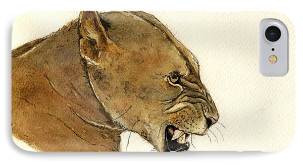 Lioness IPhone Case by Juan  Bosco