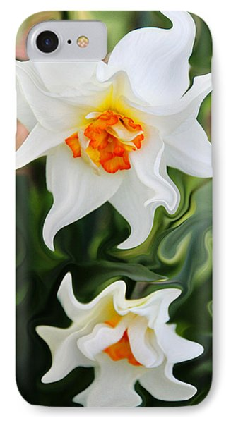 Liquid Narcissus Phone Case by Mary Burr