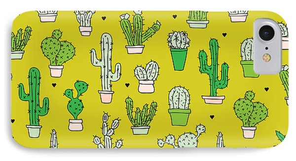 Little Cactus Botanical Garden IPhone Case by Maaike Boot