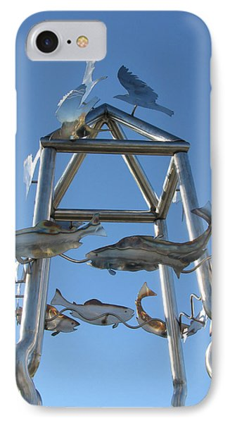 Little Chico Creek Sculpture Close IPhone Case by Peter Piatt