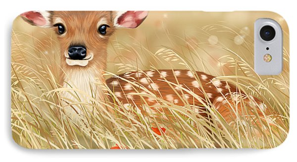 Little Fawn IPhone Case by Veronica Minozzi
