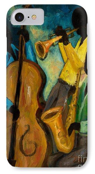 Little Jazz Trio IIi Phone Case by Larry Martin