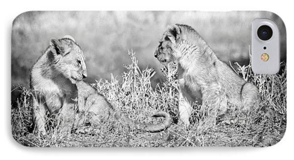 Little Lion Cub Brothers Phone Case by Adam Romanowicz