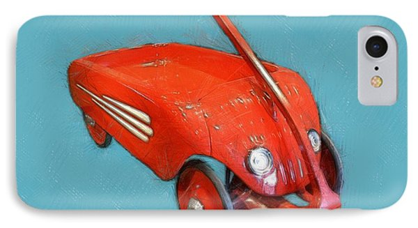 Little Red Wagon Phone Case by Michelle Calkins