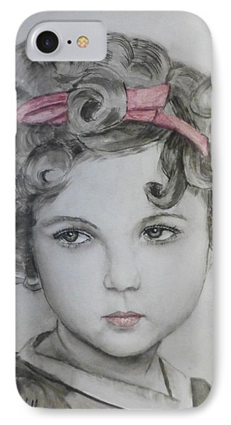 Little Shirley Temple IPhone 7 Case by Kelly Mills