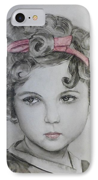 Little Shirley Temple IPhone Case by Kelly Mills