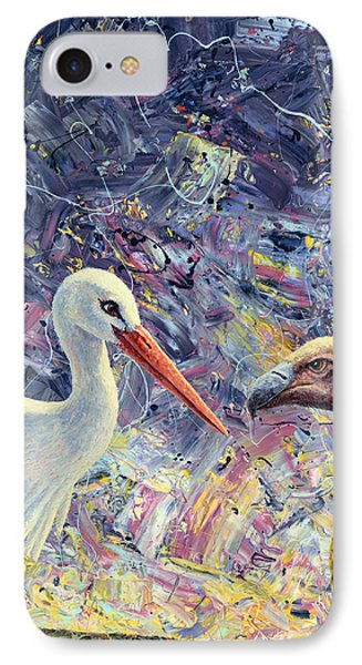 Living Between Beaks IPhone Case by James W Johnson