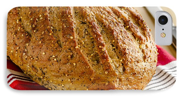 Loaf Of Whole Grains And Seeded Bread IPhone Case by Teri Virbickis
