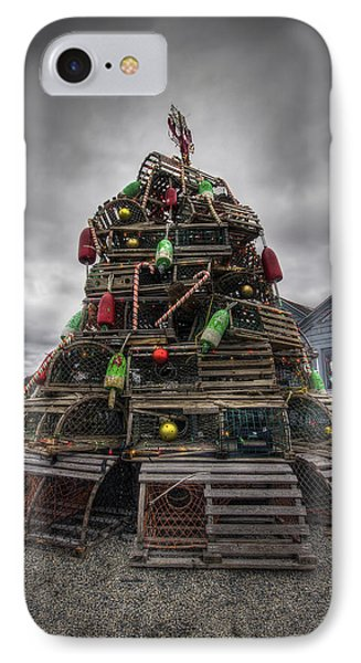 Lobster Trap Tree IPhone Case by Eric Gendron