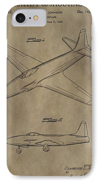 Lockheed P-80 Patent IPhone Case by Dan Sproul