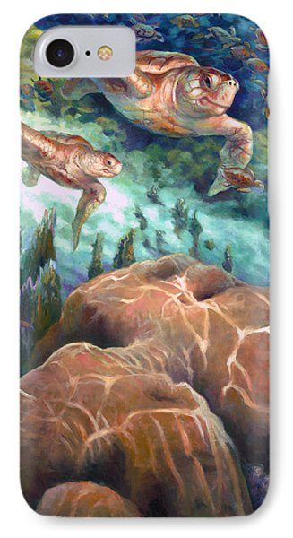 Loggerhead Sea Journey I IPhone Case by Nancy Tilles