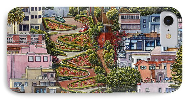 Lombard Street IPhone Case by Karen Wright