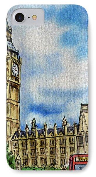 London England Big Ben IPhone Case by Irina Sztukowski