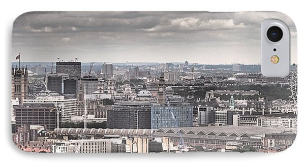 London Under Grey Skies IPhone Case by Rona Black