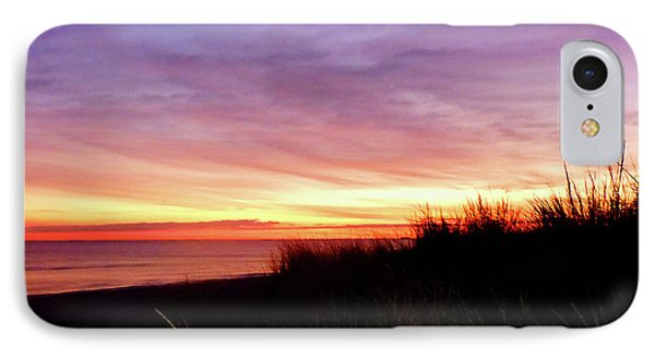 Lonely Beach At Sunrise Norfolk Va Phone Case by Susan Savad
