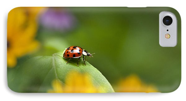 Lonely Ladybug IPhone 7 Case by Christina Rollo