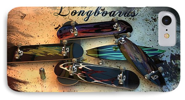 Longboards Phone Case by Louis Ferreira