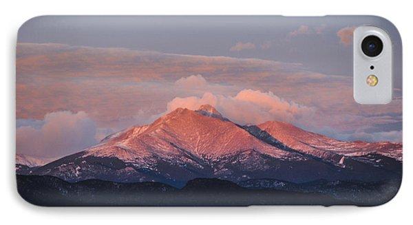 Longs Peak Sunrise IPhone Case by Aaron Spong