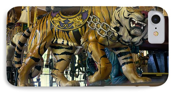 Looff Carousel Tiger 2 IPhone Case by Daniel Hagerman